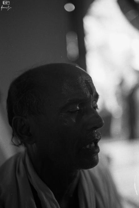 A Sankirtan singer. Sankirtan groups go around singing the praise of Lord Vishnu in rural Odisha.