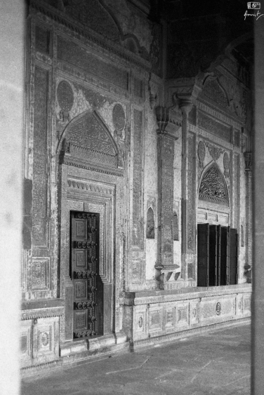 The ornate doors and windows in Ibrahim Rouza, Bijapur in Karnataka, India. You can read more about Ibrahim Rouza here: https://amritpanigrahy.com/2017/06/28/dome-diaries-part-iii-two-and-a-half-tombs-and-other-things/